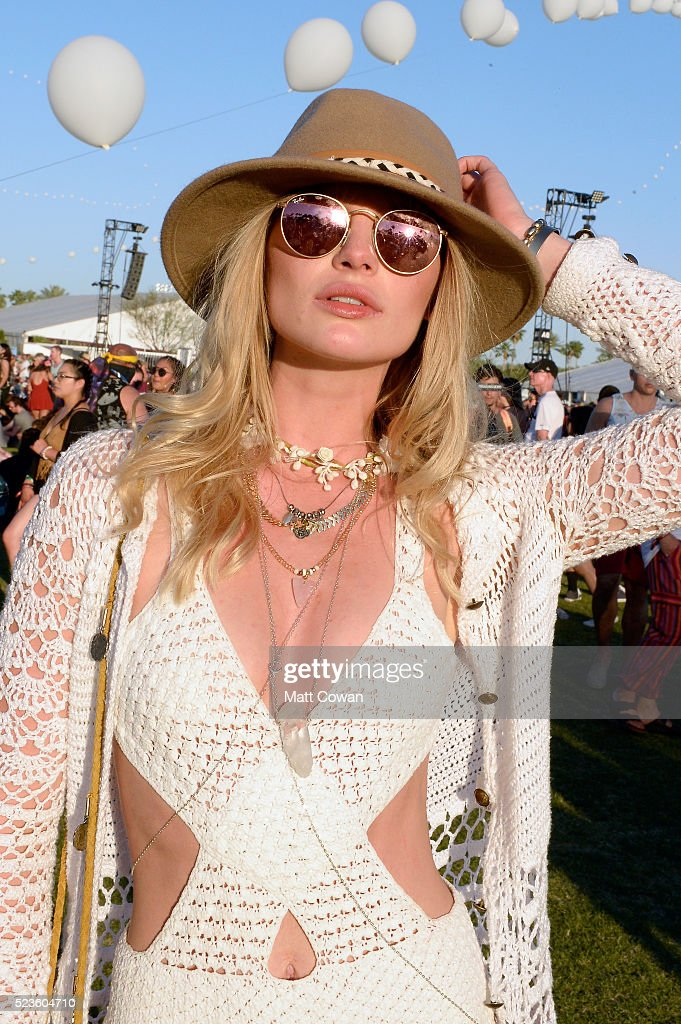 Music fan attends day 2 of the 2016 Coachella Valley Music & Arts Festival Weekend 2 at the Empire Polo Club on April 23, 2016 in Indio, California.