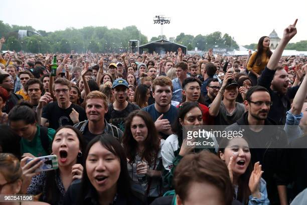 Music fans at All Points East Festival at Victoria Park on May 25 2018 in London England