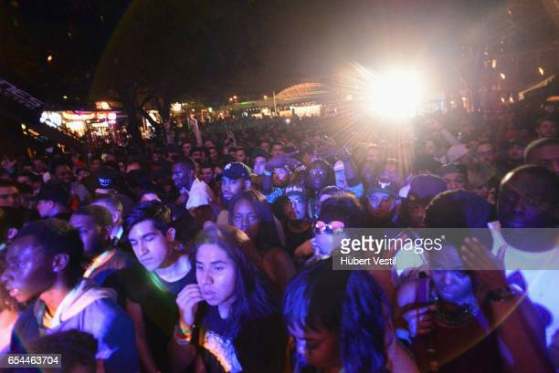 Music fans at the Mass Appeal music showcase during 2017 SXSW Conference and Festivals at Stubbs on March 16 2017 in Austin Texas