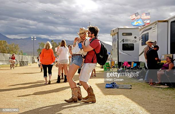Music fans attend 2016 Stagecoach California's Country Music Festival at Empire Polo Club on April 30 2016 in Indio California