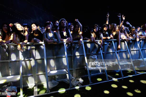 Music fans attend Beach House performance during day 3 of the 2016 Coachella Valley Music And Arts Festival Weekend 1 at the Empire Polo Club on...