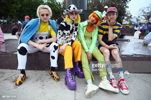 Music fans attend Camp Flog Gnaw Carnival 2017 at Exposition Park on October 28 2017 in Los Angeles California
