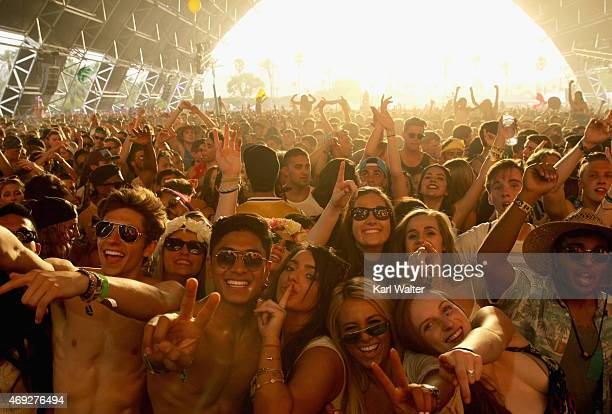 Music fans attend day 1 of the 2015 Coachella Valley Music & Arts Festival at the Empire Polo Club on April 10, 2015 in Indio, California.