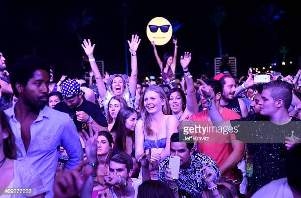 Music fans attend day 1 of the 2015 Coachella Valley Music Arts Festival at the Empire Polo Club on April 10 2015 in Indio California