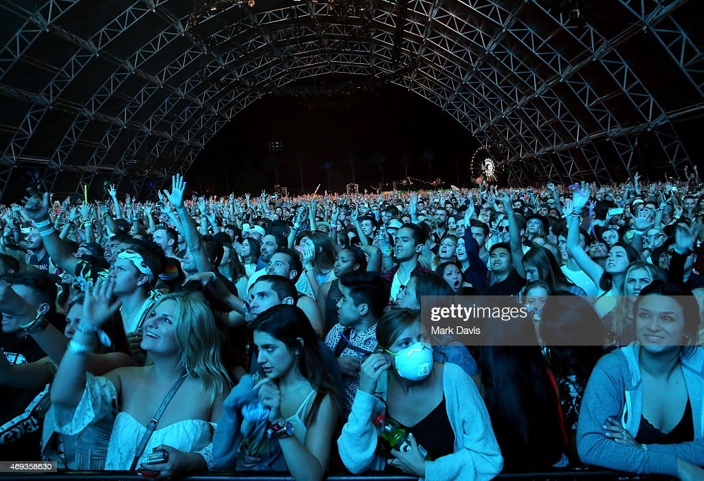 Music fans attend day 1 of the 2015 Coachella Valley Music & Arts Festival (Weekend 1) at the Empire Polo Club on April 10, 2015 in Indio, California.