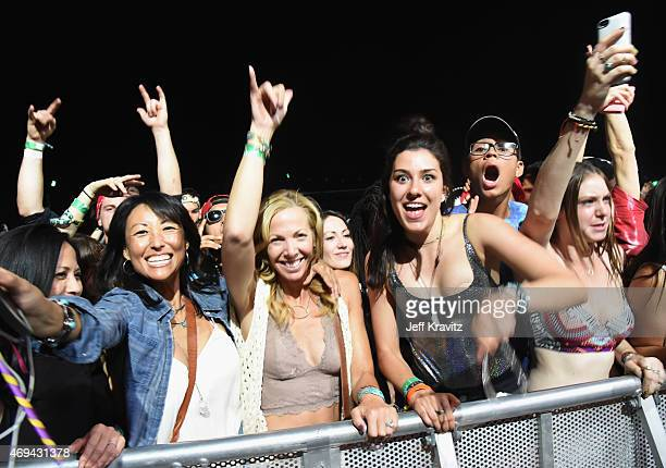 Music fans attend day 2 of the 2015 Coachella Valley Music & Arts Festival at the Empire Polo Club on April 11, 2015 in Indio, California.