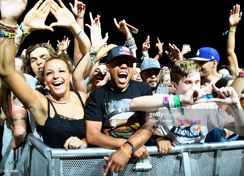 Music fans attend day 2 of the 2015 Coachella Valley Music & Arts Festival (Weekend 1) at the Empire Polo Club on April 11, 2015 in Indio, California.