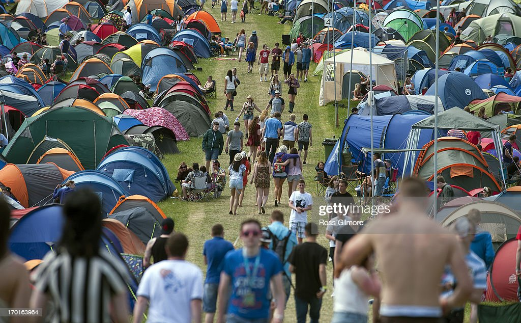 Music fans attend day 2 of the Rockness festival at Clune Farm, Loch Ness on June 8, 2013 in Inverness, Scotland.