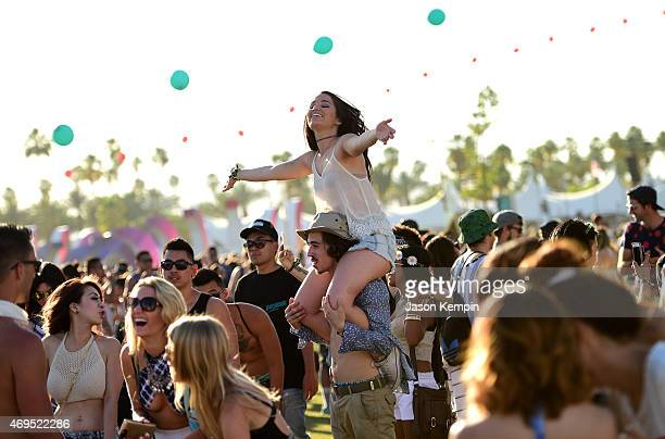 Music fans attend day 3 of the 2015 Coachella Valley Music & Arts Festival at the Empire Polo Club on April 12, 2015 in Indio, California.