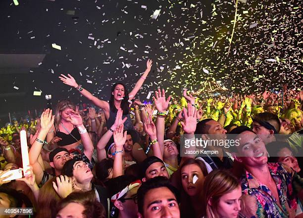 Music fans attend day 3 of the 2015 Coachella Valley Music Arts Festival at the Empire Polo Club on April 12 2015 in Indio California
