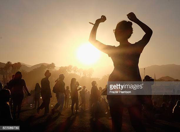 Music fans attend day 3 of the 2016 Coachella Valley Music And Arts Festival Weekend 1 at the Empire Polo Club on April 17 2016 in Indio California