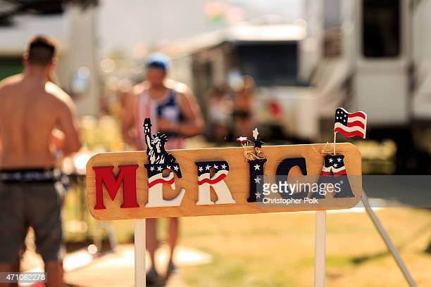 Music fans attend day one of 2015 Stagecoach California's Country Music Festival at The Empire Polo Club on April 24 2015 in Indio California