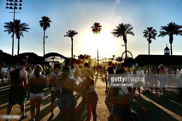Music fans attend during day 2 of the 2015 Coachella Valley Music And Arts Festival at The Empire Polo Club on April 18 2015 in Indio California