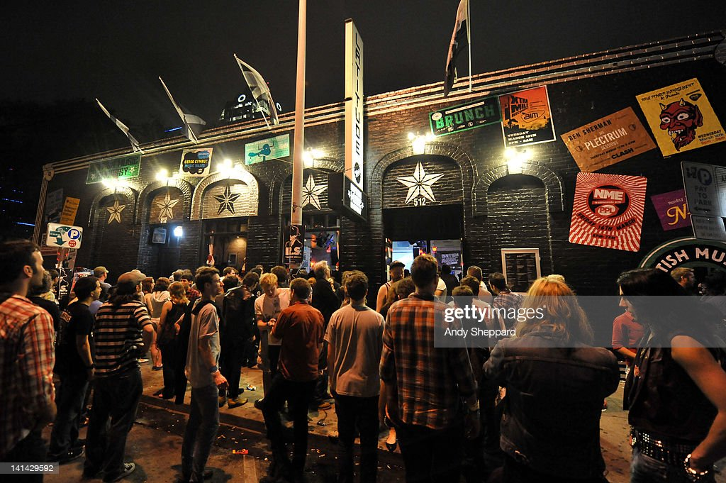 Music fans congregate outside the sold out British Music Embassy venue, Latitude 30 during SXSW Music Festival 2012 on March 15, 2012 in Austin, United States.