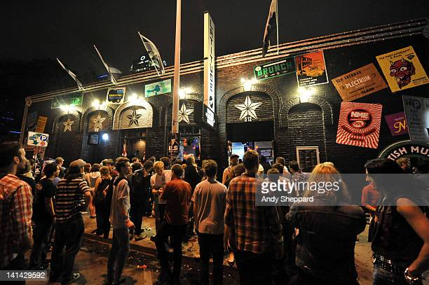 Music fans congregate outside the sold out British Music Embassy venue Latitude 30 during SXSW Music Festival 2012 on March 15 2012 in Austin United...