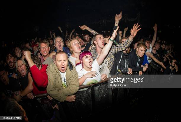Music fans during Idles concert at The O2 Institute Birmingham on October 26, 2018 in Birmingham, England.