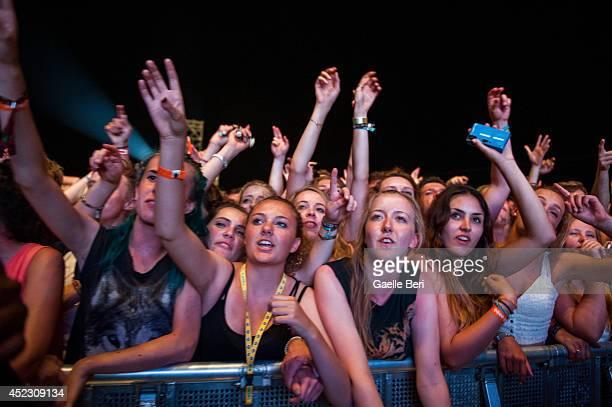 Music fans enjoy Day 1 of Benicassim Music Festival on July 17 2014 in Benicasim Spain