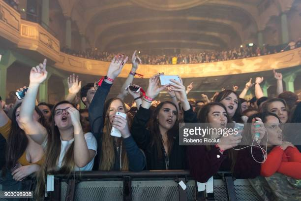 Music fans enjoy The Hunna performance at O2 Academy Glasgow on January 9 2018 in Glasgow Scotland