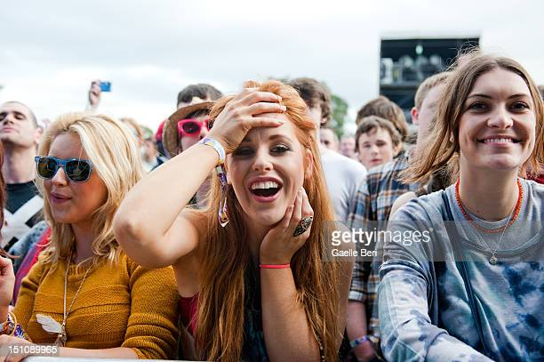 Music fans seen enjoying the performances at the Electric Picnic on August 31 2012 in Stradbally Ireland