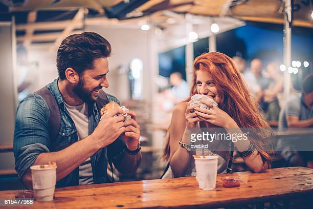 music festival food is grate - couples dating stock pictures, royalty-free photos & images