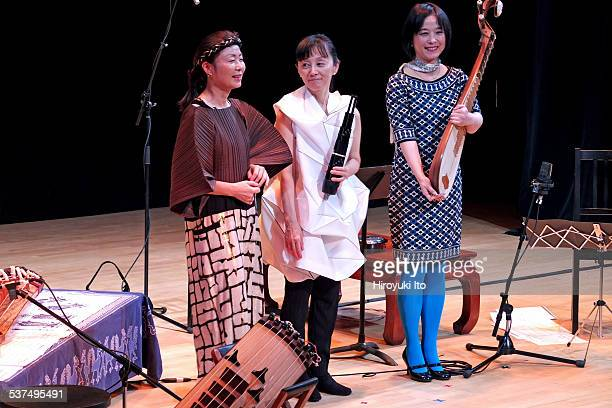 Music from Japan 40th Anniversary Festival at Asia Society on Saturday night February 7 2015This imageCurtain call from left Jin Hi Kim Mayumi Miyata...