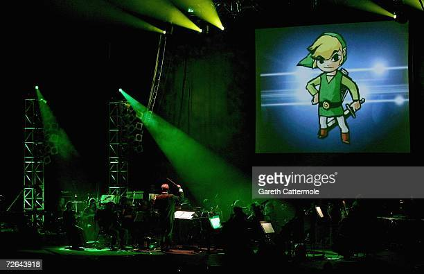 Music from the video game Zelda is performed during 'Video Games Live' by the English National Ballet Orchestra and the Apollo Voice Choir at the...