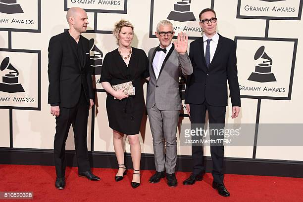Music group Above Beyond attend The 58th GRAMMY Awards at Staples Center on February 15 2016 in Los Angeles California