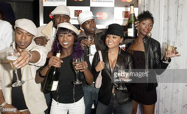 Music group Big Brovaz attends the nominations for the Mastercard Mobo Awards on September1 2003 at Tantra in London The awards will be held on...