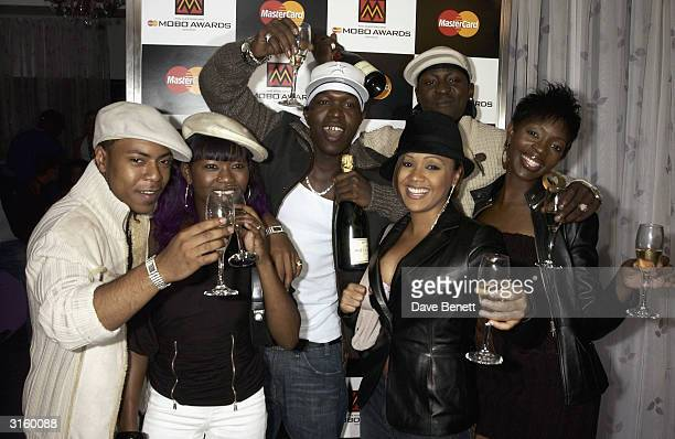 Music group Big Brovaz celebrating at the MOBO Nominations at the Tantra Nightclub on February 8 2003 in Soho London