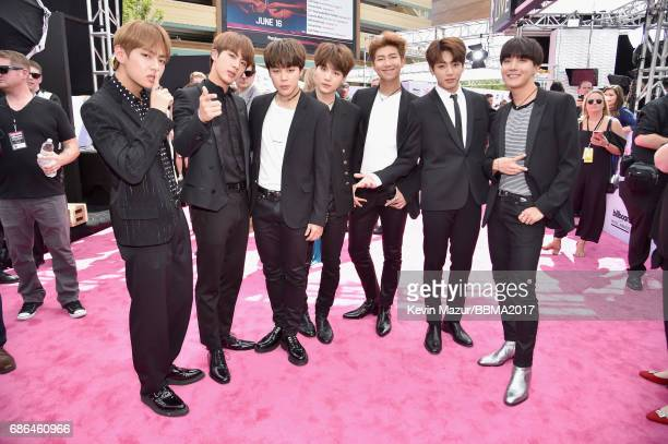 Music group BTS attends the 2017 Billboard Music Awards at TMobile Arena on May 21 2017 in Las Vegas Nevada
