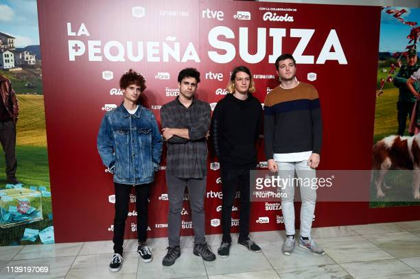 Music Group Carolina Durante attends to quotLa Pequena Suizaquot premiere at Capitol Cinema on April 24 2019 in Madrid Spain