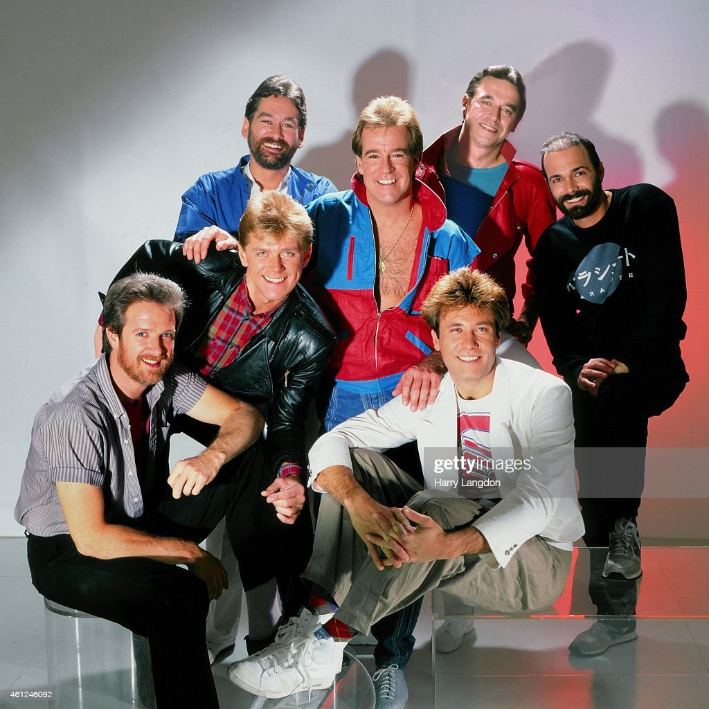 Music Group Chicago poses for a portrait in 1984 in Los Angeles, California.