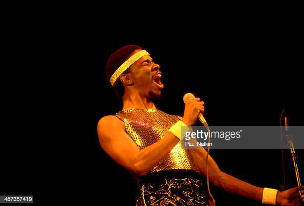 Music group Earth Wind and Fire performs at the Rosemont Horizon Rosemont Illinois November 26 1981