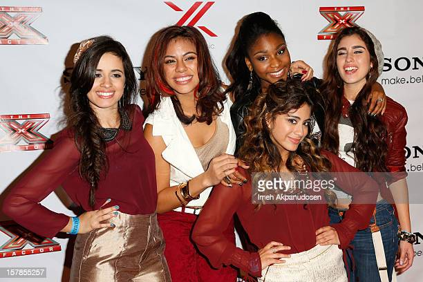 Music group Fifth Harmony attends Fox's 'The X Factor' viewing party at Mixology101 Planet Dailies on December 6 2012 in Los Angeles California