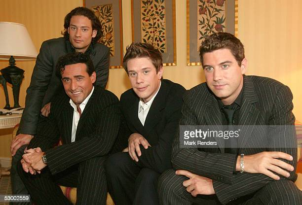 Music group Il Divo pose for a portrait in the Brussels Conrad hotel on May 30 2005 in Brussels Belgium