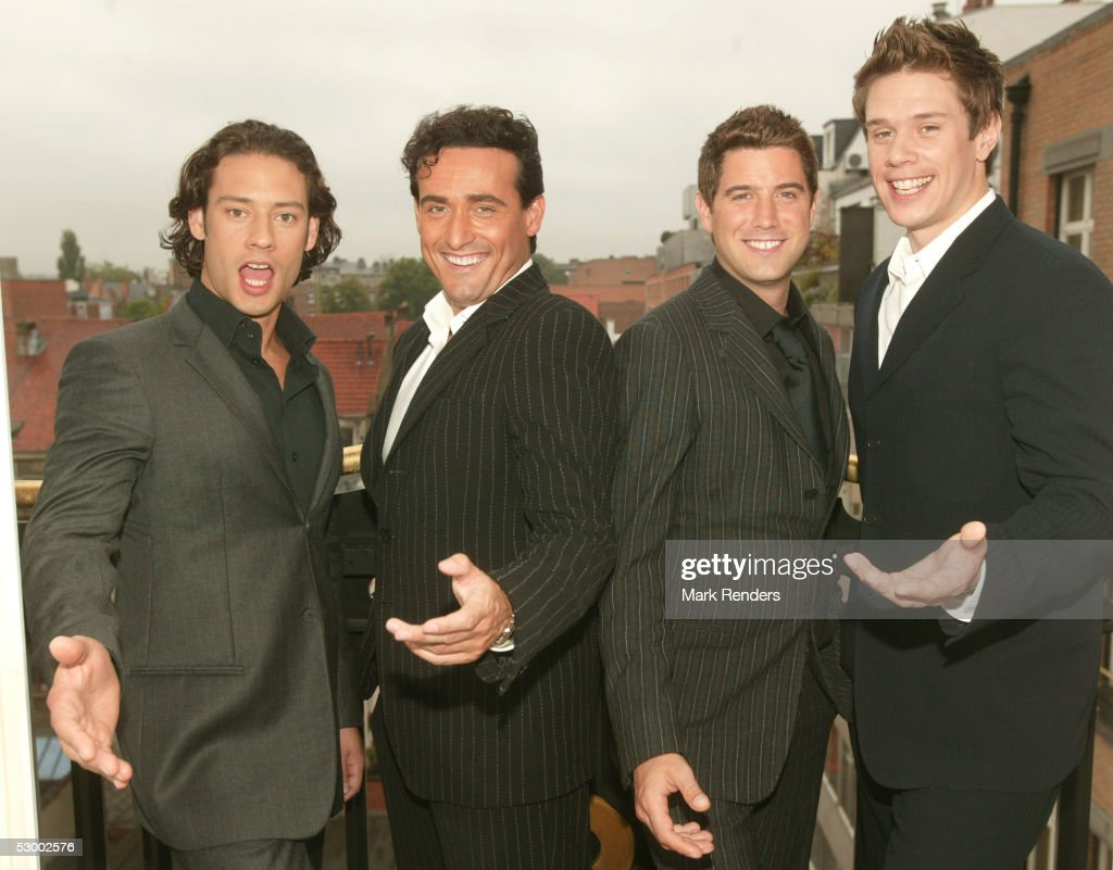 Music group il divo pose for a portrait in the brussels - Il divo gruppo musicale ...