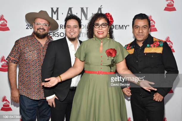 Music group La Santa Cecilia attends the Person of the Year Gala honoring Mana during the 19th annual Latin GRAMMY Awards at the Mandalay Bay Events...