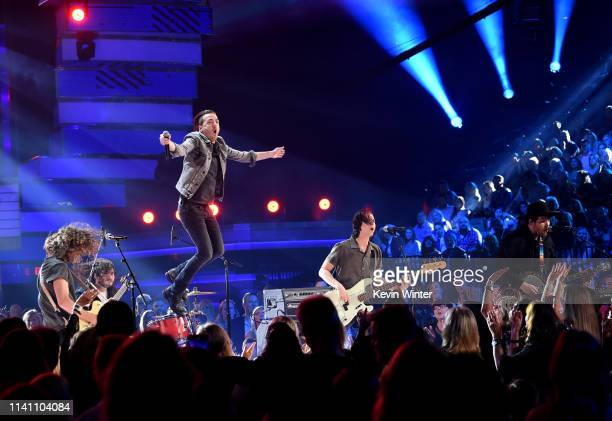 Music group Lanco performs onstage during the 54th Academy Of Country Music Awards at MGM Grand Garden Arena on April 07 2019 in Las Vegas Nevada