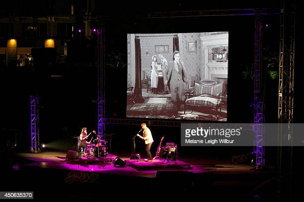 Music group Magnetix performs onstage to Buster Keaton's Sherlock Jr during the 2014 Los Angeles Film Festival at Grand Performances on June 13 2014...