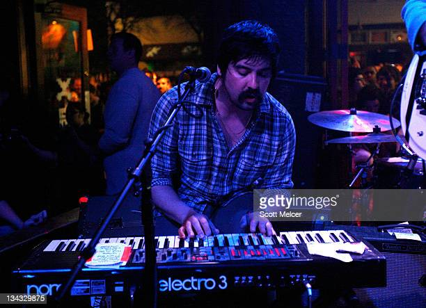 Music group Mister Heavenly performs onstage at the 2011 SXSW Music Film Interactive Festival Campfire Trails Showcase at The Bat Bar on March 15...