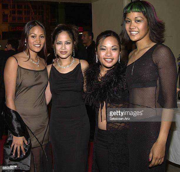 Music group One Vo1ce arrives at the Second Annual AMMY Awards For Asian American Entertainment November 10 2001 in Los Angeles CA