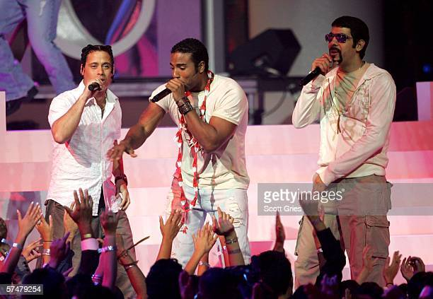 Music group Orishas perform onstage during the 2006 Billboard Latin Music Awards at the Seminole Hard Rock Hotel & Casino on April 27, 2006 in...