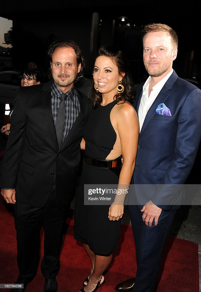 Music Group president of film music publishing Mike Knobloch, writer Kay Cannon, and director Jason Moore arrive at the premiere of Universal Pictures And Gold Circle Films' 'Pitch Perfect' at ArcLight Cinemas on September 24, 2012 in Hollywood, California.