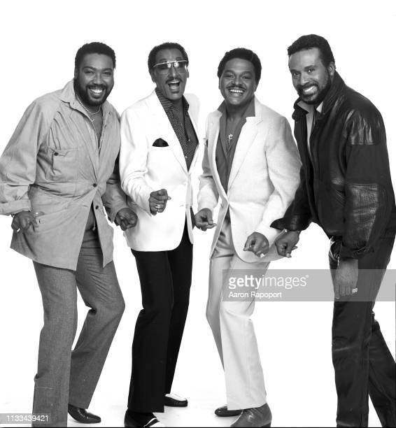Music group The Four Tops pose for a portrait in December 1985 in Los Angeles California