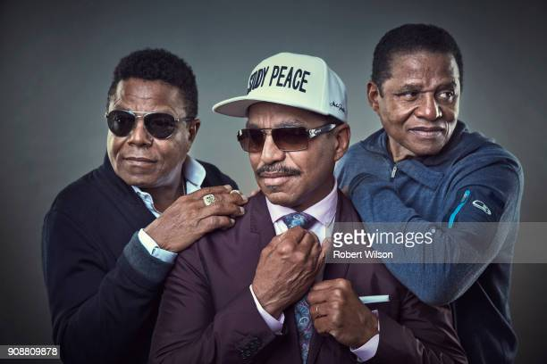Music group the Jacksons, with Tito, Marlon and Jermaine are photographed for the Times on June 21, 2017 in London, England.