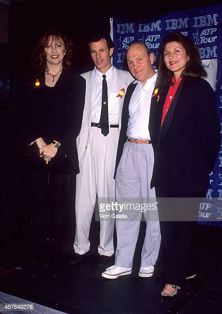 Music group The Manhattan Transfer attends the Fourth Annual IBM/ATP Tour Awards Gala on March 5 1 993 at the Stouffer Esmeralda Resort in Palm...