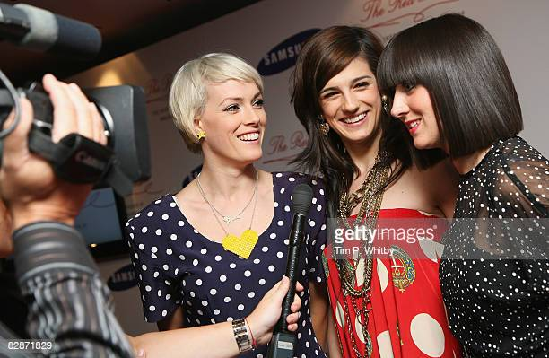 Music group The Pipettes give an interview at the Samsung Imagination Icon Series The Red Thread The Inspiration and Passion of Valentino Garavani at...