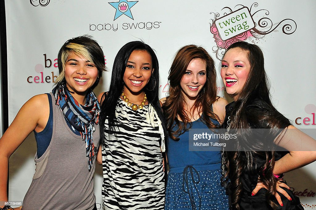 Hayley Kiyoko, Tinasha, Kelsey Sanders, Marisol) arrive at the Baby & Tween Celebration trade show at the Los Angeles Convention Center on April 25, 2009 in Los Angeles, California.