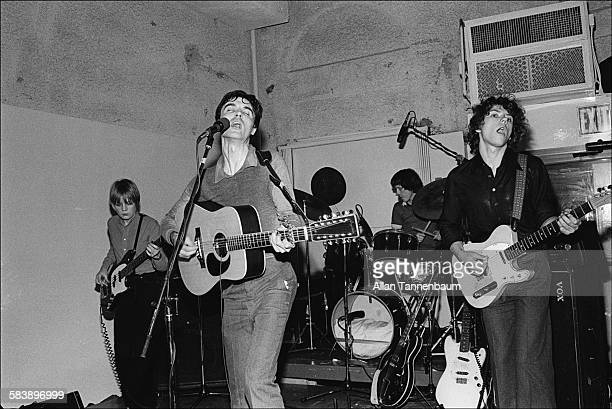 Music group the Talking Heads perform at the Lower Manhattan Ocean Club in Tribeca New York New York February 10 1977