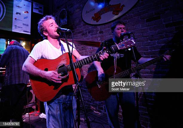 Music group Trampled by Turtles performs onstage at the 2011 SXSW Music Film Interactive Festival Campfire Trails Showcase at The Bat Bar on March 15...